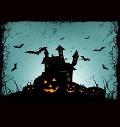 halloween frame background vector image vector image