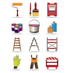 Painting and construction tools vector image