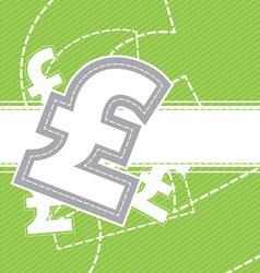 pound money icon background vector image vector image