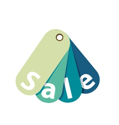 Sale Tag Isolated on White vector image