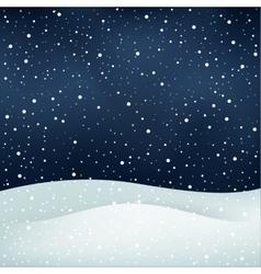 Snowfall night background vector
