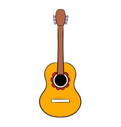 acoustic guitar icon cartoon vector image vector image