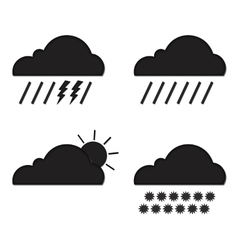 Clouds collection Weather icons set Web elements vector image vector image