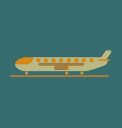 icon in flat design for airport cargo airplane vector image