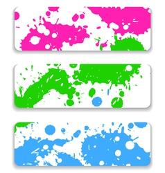 ink splash banner set vector image vector image