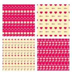 Love Seamless pattern set vector image vector image