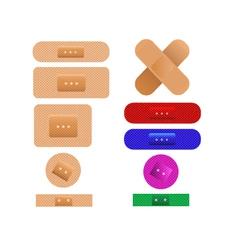 medical plaster bandages vector image vector image