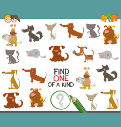 one of a kind with dogs vector image vector image
