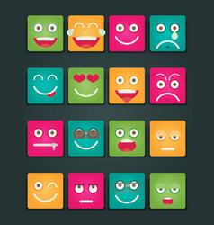 set of emoticons set of emoji flat style vector image
