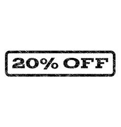 20 percent off watermark stamp vector