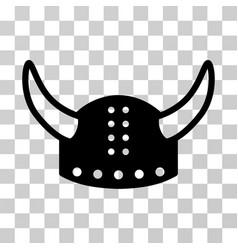 Horned helmet icon vector