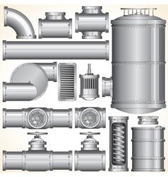Industrial Pipeline Parts vector image