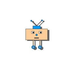 sad little robot vector image