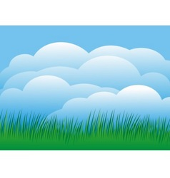 sky with grass vector image vector image