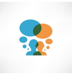 Two persons thinking vector image vector image