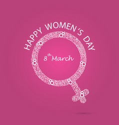 women symbol and eight logo design international vector image vector image