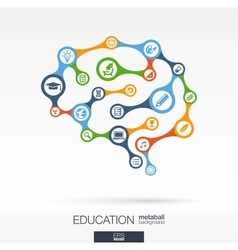 Brain concept for education learning knowledge vector image vector image