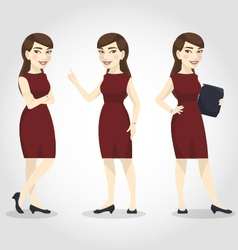 female character asian business woman vector image