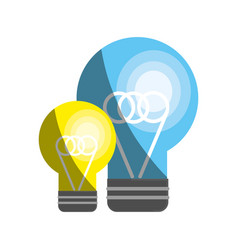 Flat bulb idea and creative icon vector