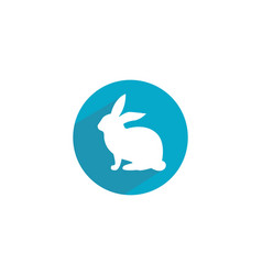 rabbit logo template icon desi vector image