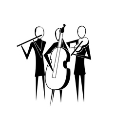 stylized silhouette image band vector image
