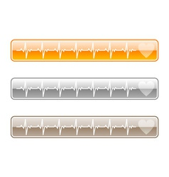 Three web buttons vector