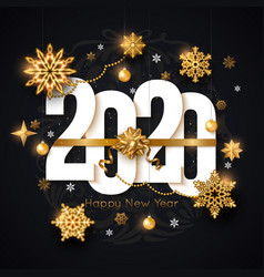 2020 happy new year background decorated gold vector image
