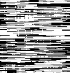 Abstract black and white background with glitch vector image