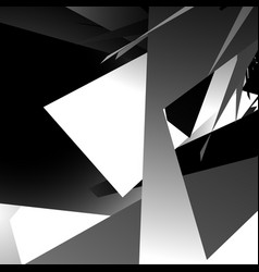Abstract edgy angled shapes texture monochrome vector
