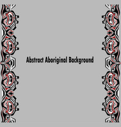 Abstract red and black background native vector