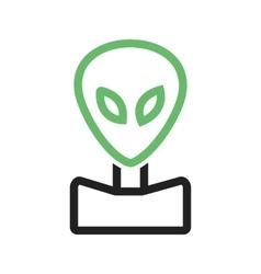 Alien Face vector image