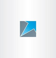 blue arrow in square icon vector image