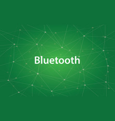 bluetooth white text with vector image