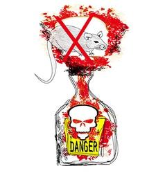 bottle of rat poison vector image