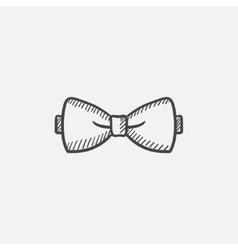 Bow-tie sketch icon vector image