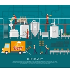 Brewery and beer vector