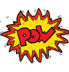 Cartoon comic book pow symbol vector