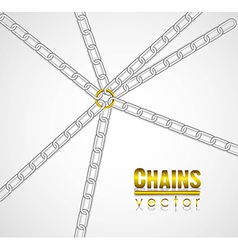 Chains linked by golden link in the center vector