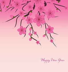 Chinese New Year plum blossom Background vector