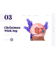 Christmas and new year holidays website landing vector
