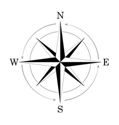 compass wind rose isolated on white background vector image