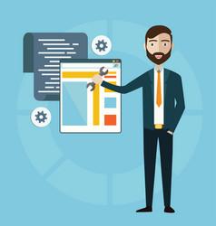 concept programmer or coder workflow vector image