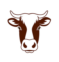 Cow head farm vector