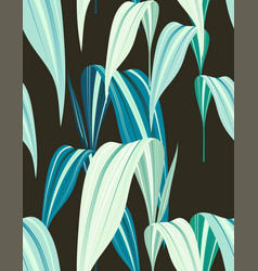 creative pattern with exotic leaves vector image