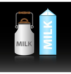 dairy product milk in two types of bottles eps10 vector image