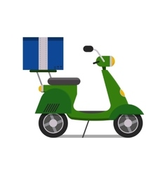 Delivery scooter transport cargo logistic vector