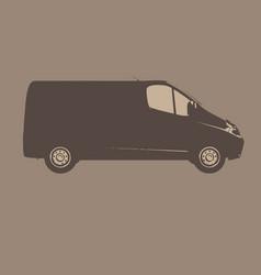 Delivery van icon vector