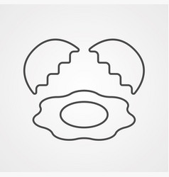egg icon sign symbol vector image