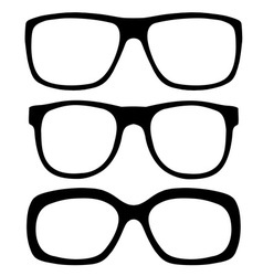 Eyeglasses set vector