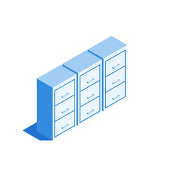 Filing cabinet archive of documents icon vector